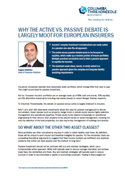 why the active vs passive debate is largely moot for european insurers