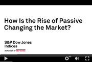 how is the rise of passive changing the market