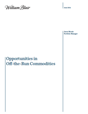 compelling opportunities in off the run commodity markets