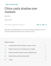 china casts shadow over markets