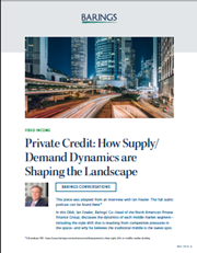 Private Credit: How Supply/Demand Dynamics are Shaping the Landscape