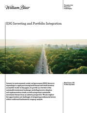 esg investing and portfolio integration