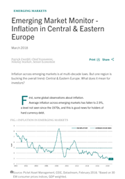 em monitor inflation in central eastern europe
