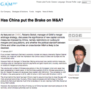 has china put the brake on m&a