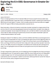 exploring the g in esg governance in greater detail part i