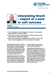 Interpreting Brexit – impact of a hard or soft outcome