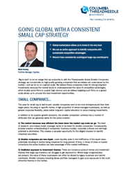 going global with a consistent small cap strategy
