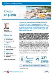 a focus on plastic