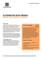 alternative risk premia what you need to know