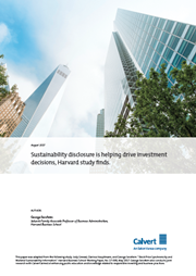 sustainability disclosure is helping drive investment decisions