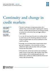 continuity and change in credit markets