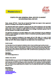 Poste Vita And Generali Real Estate Co-Invest In European Real Estate