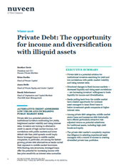 private debt the opportunity for income and diversification with illiquid assets