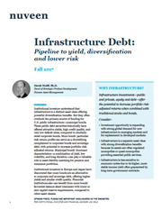 infrastructure debt pipeline to yield diversification and lower risk