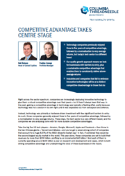 competitive advantage takes centre stage