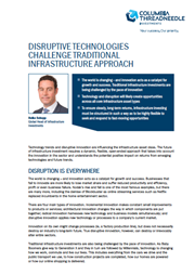 disruptive technologies challenge traditional infrastructure approach