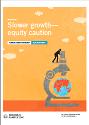 Slower Growth - Equity Caution Quarterly Allocation Views