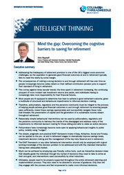 Mind the gap: Overcoming the cognitive barriers to saving for retirement' index