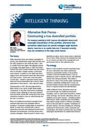 Alternative Risk Premia: Constructing a true diversified portfolio index