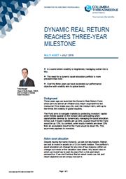 Dynamic Real Return Fund Reaches Three-Year Milestone index