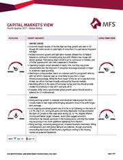 capital markets view fourth quarter 2017