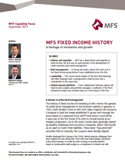 mfs fixed income history a heritage of innovation and growth