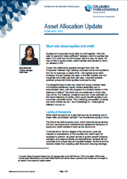 Asset Allocation Update - Much ado about equities and credit