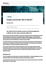 Crypto-currencies: fad or future?