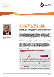 if inflation is fizzling out can profits be far behind