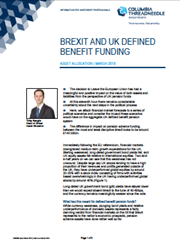 Brexit And UK Defined Benefit Funding