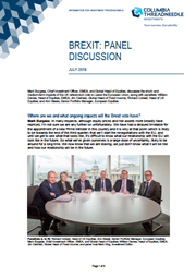 Brexit: Panel Discussion index
