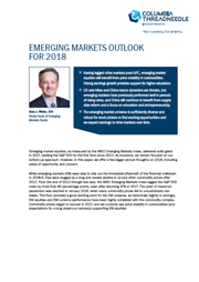 emerging markets outlook for 2018