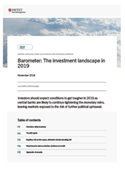 Barometer: The investment landscape in 2019