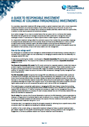 A Guide To Responsible Investment Ratings At Columbia Threadneedle Investments