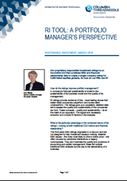 Ri Tool: A Portfolio Manager's Perspective