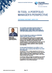 ri tool a portfolio manager perspective responsible investment march 2019