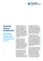 hong kong faces an unstable future