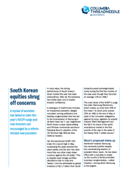 south korean equities shrug off concerns