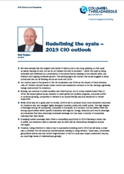 redefining the cycle – 2019 cio outlook