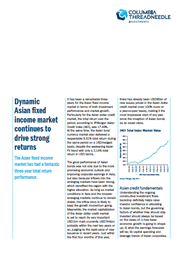 dynamic asian fixed income market continues to drive strong returns