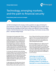 technology emerging markets and the path to financial security