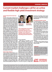 current market challenges call for an active and flexible high yield investment strategy