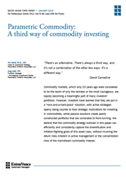 parametric commodity a third way of commodity investing
