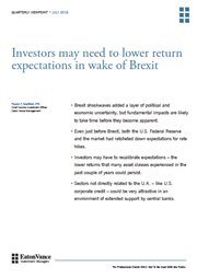 Investors may need to lower return expectations in wake of Brexit index