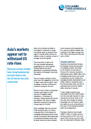 asias markets appear set to withstand us rate rises