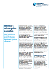 indonesias reforms gather momentum