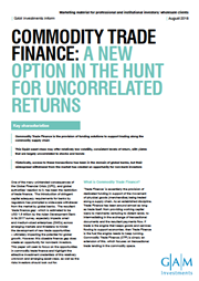 commodity trade finance a new option in the hunt for uncorrelated returns