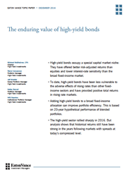 the enduring value of high yield bonds