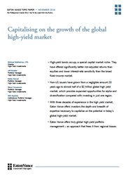capitalising on the growth of the global high yield market