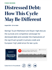 distressed debt how this cycle may be different